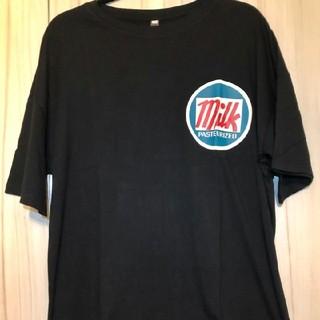 夏に可愛い ブラック ビックシルエットTシャツ 韓国ファッション(Tシャツ/カットソー(半袖/袖なし))