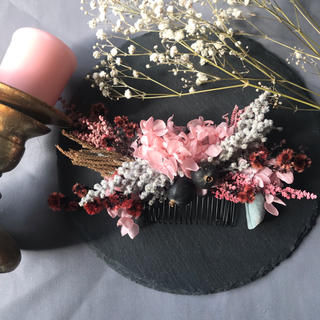 ボタニカルナチュラルヘッドドレス、ヘアコーム 、髪飾り