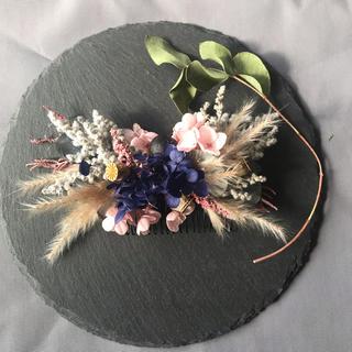ボタニカルナチュラルヘッドドレス、コーム、髪飾り