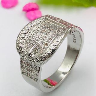 ◆13号バックルデザイン/スターリング!シルバーリング925 ジルコニア!(リング(指輪))
