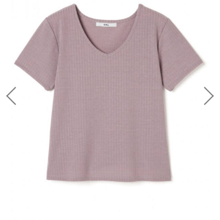 グレイル(GRL)の新品未使用 VネックTシャツ ラベンダー(Tシャツ(半袖/袖なし))