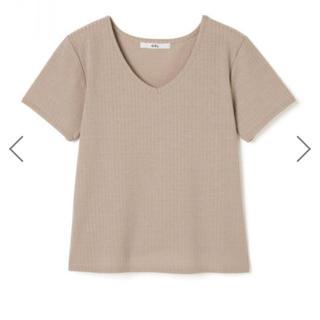 グレイル(GRL)の新品未使用 VネックTシャツ ベージュ(Tシャツ(半袖/袖なし))