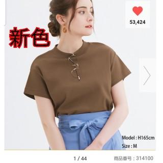 ジーユー(GU)のGU  ☆スムースT  新色 濃いブラウン☆(Tシャツ(半袖/袖なし))