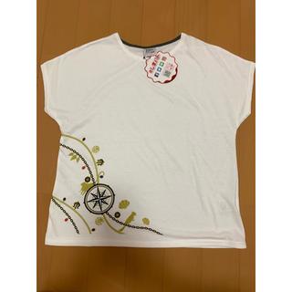 シマムラ(しまむら)の新品!レディース   半袖   白  Tシャツ   L(Tシャツ(半袖/袖なし))