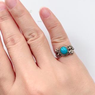 ターコイズ シルバー925リング 3号(リング(指輪))
