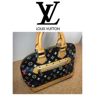 ルイヴィトン(LOUIS VUITTON)の美品 LOUIS VUITTON ルイヴィトン モノグラム マルチカラー アルマ(ハンドバッグ)