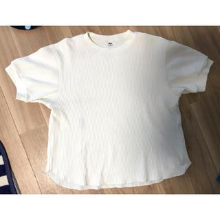 ユニクロ(UNIQLO)のUNIQLO ワッフルクルーネックT 5分袖(Tシャツ(半袖/袖なし))