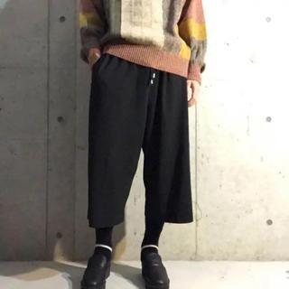 コムデギャルソン(COMME des GARCONS)のサイドライン 袴パンツ ワイド イージー スラックス(スラックス)