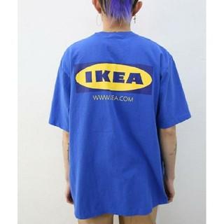 IKEA イケアTシャツ ゆるだぼ 青  (Tシャツ/カットソー(半袖/袖なし))
