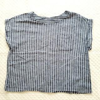 ジーユー(GU)のGU プルオーバー L ストライプ ブラウス(シャツ/ブラウス(半袖/袖なし))