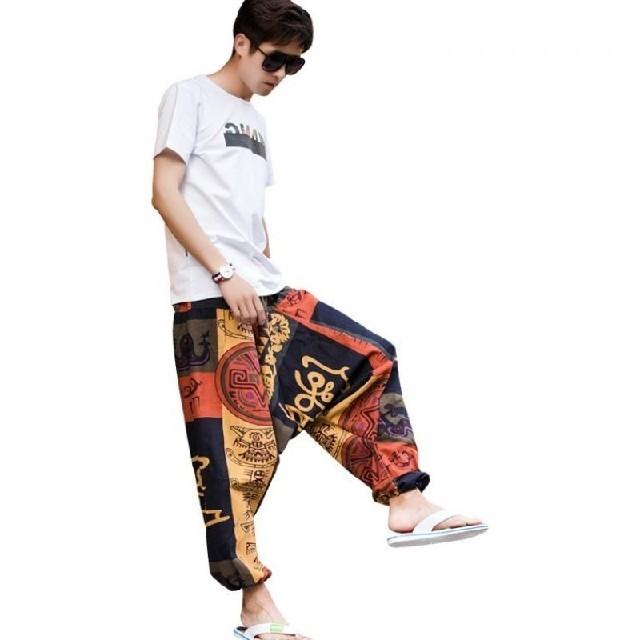 民族柄 アラジン サルエルパンツ フリーサイズ    、 メンズのパンツ(サルエルパンツ)の商品写真