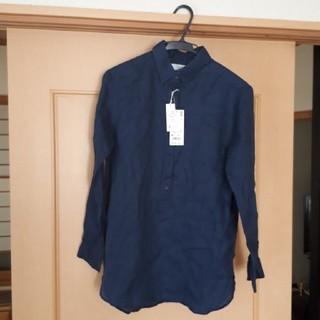 ユニクロ(UNIQLO)のユニクロ、プレミアムリネンシャツMサイズ(シャツ/ブラウス(長袖/七分))