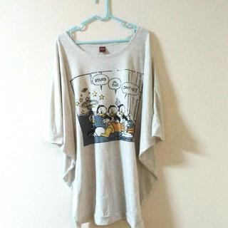 しまむら - しまむら ドナルド BIG Tシャツ 3L ディズニー グレー スウェッターズ