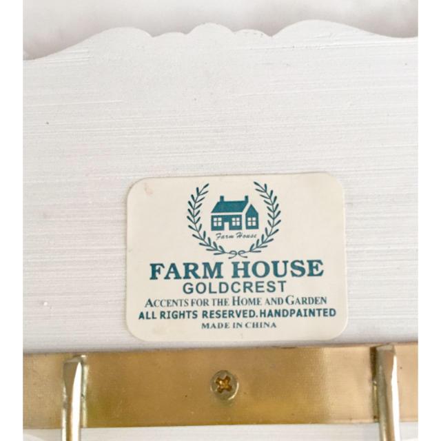 FARM HOUSE  ローズレリーフ 4連フック ハンドメイドのインテリア/家具(インテリア雑貨)の商品写真