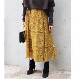 IENA - VELMEIL par iena カラーレースラップスカート