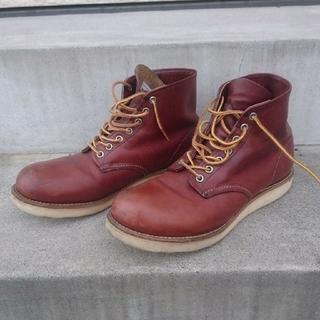 レッドウィング(REDWING)のレッドウィング 9105 プレーントゥ ブーツ 8D 赤茶(ブーツ)