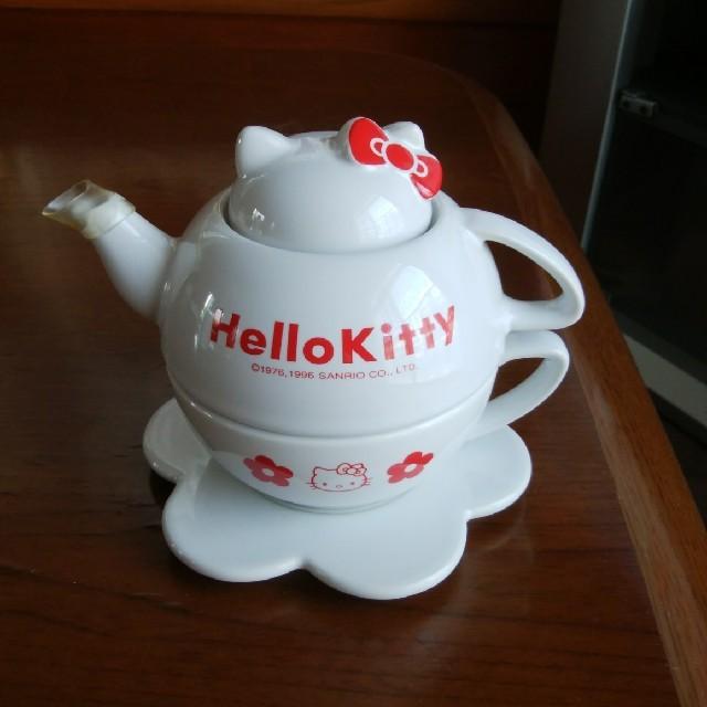 ハローキティ(ハローキティ)のハローキティ♥ ティーポットセット インテリア/住まい/日用品のキッチン/食器(食器)の商品写真