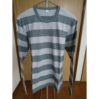 ユニクロ(UNIQLO)のユニクロ ウォッシュボーダーT(長袖) Mサイズ(Tシャツ/カットソー(七分/長袖))