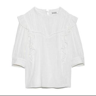 スナイデル(snidel)のSNIDEL コットンレースブラウス ホワイト(シャツ/ブラウス(半袖/袖なし))