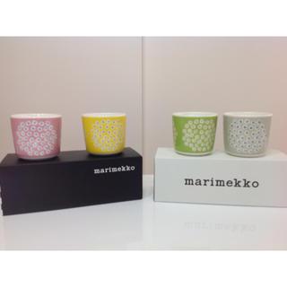 マリメッコ(marimekko)の新品 マリメッコ プケッティ ラテマグ 4色セット(グラス/カップ)