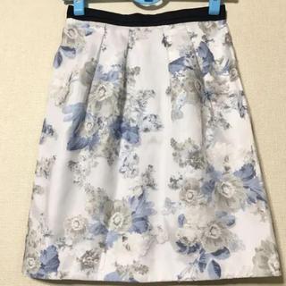 ジャスグリッティー(JUSGLITTY)のジャスグリッティー   可愛いオーガンジー花柄スカート(ひざ丈スカート)
