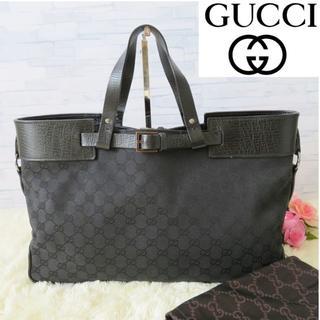 グッチ(Gucci)の美品❤GUCCI✨グッチ✨トートバッグ❤黒❤キャンバス★GG柄 238(トートバッグ)