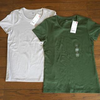 ユニクロ(UNIQLO)のスーピマコットン クルーネックT 2枚(Tシャツ(半袖/袖なし))