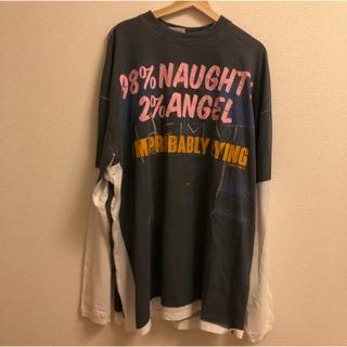 バレンシアガ(Balenciaga)の【VETEMENTS】最安値 NaughtyAngel Tシャツ 送料無料 希少(シャツ)