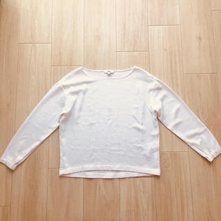 ユニクロ(UNIQLO)のUNIQLO ホワイトブラウス(シャツ/ブラウス(長袖/七分))