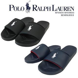 ポロラルフローレン(POLO RALPH LAUREN)の新品未使用★Ralph Lauren シャワーサンダル黒23cm ラルフローレン(サンダル)