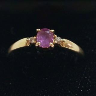 ジュエリーマキ - ダイヤモンドとアメジストのリング マキ k18