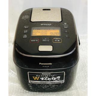 パナソニック(Panasonic)のパナソニック 5.5合 炊飯器 圧力IH式 Wおどり炊き ブラック(炊飯器)