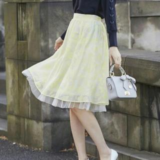 トッコ(tocco)の裾チュール付き フラワーオパールスカート(ひざ丈スカート)