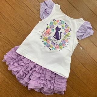 ANNA SUI mini - アナスイミニ 120 Tシャツ キュロット スカート