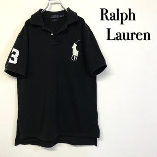 POLO RALPH LAUREN - 美品 古着  Ralph Lauren ポロシャツ ビッグポニー 刺繍ロゴ
