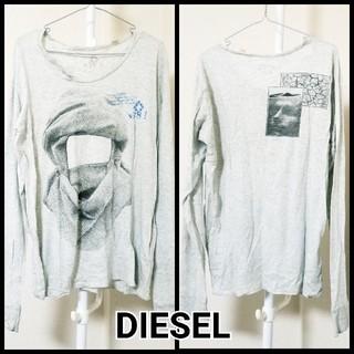 ディーゼル(DIESEL)のDIESEL ディーゼル 薄手 ロンT 古着 L グレー(Tシャツ/カットソー(七分/長袖))