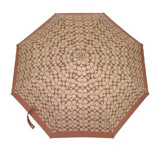 コーチ(COACH)の新品 未使用 コーチ COACH 折り畳み傘 F63364 茶色 ブラウン(傘)