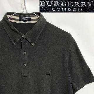 バーバリー(BURBERRY)のレア美品!日本製!BURBERRYバーバリーノバチェック ホースマークポロシャツ(ポロシャツ)