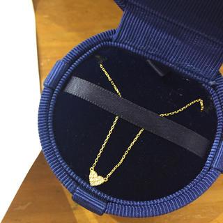アーカー(AHKAH)のAHKAH ハートパヴェネックレス K18 ダイヤモンド こじはる (ネックレス)