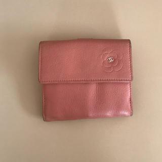 シャネル(CHANEL)のCHANEL シャネル カメリア 二つ折り財布(折り財布)