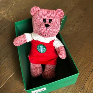 スターバックスコーヒー(Starbucks Coffee)のスターバックス ベアリスタ 2016 限定  ホリデー レッドエプロン(ぬいぐるみ)