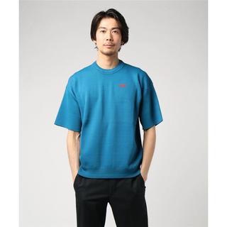 ディーゼル(DIESEL)のDIESEL 半袖ニット ブルー  XL ディーゼル(ニット/セーター)