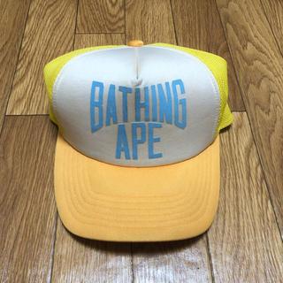 アベイシングエイプ(A BATHING APE)のa bathing ape BAPE エイプ NIGO メッシュキャップ 帽子(キャップ)