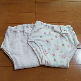 ニシマツヤ(西松屋)のトレーニングパンツ 2枚組 6層 100 女の子(トレーニングパンツ)