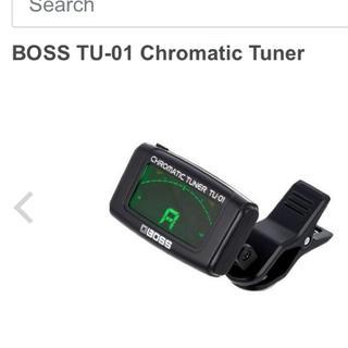 boss chromatic tuner tu01