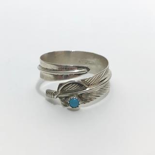 ゴローズ(goro's)のインディアンジュエリー ナバホ族 ターコイズ フェザー リング キムタク着 1(リング(指輪))