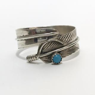 ゴローズ(goro's)のインディアンジュエリー ナバホ族 ターコイズ フェザー リング キムタク着 2(リング(指輪))