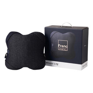 フランフラン(Francfranc)のFrancfranc ルルド マッサージクッションVW【車専用アダプター付】(マッサージ機)