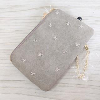 アネロ(anello)の新品 アネロ anello キーケース パスケース 星柄刺繍 グレー(キーケース)