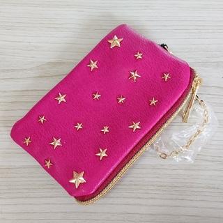 アネロ(anello)のb新品 アネロ anello キーケース パスケース 星柄スタッズ ピンク(キーケース)